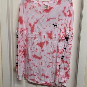 Pink by Victoria's Secret long sleeve tie-dye